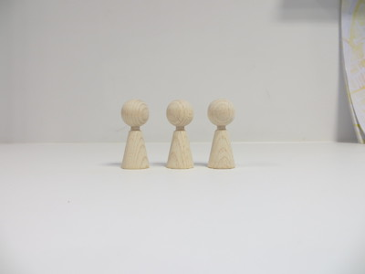 wooden figurines angels