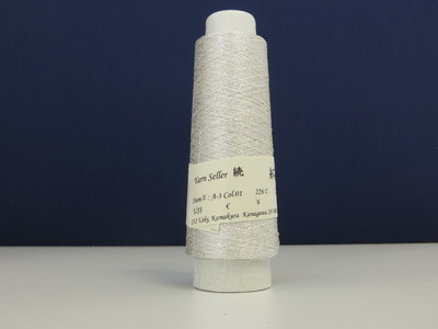 Silk white + Silver thread d226 Japan - Yarn Seller