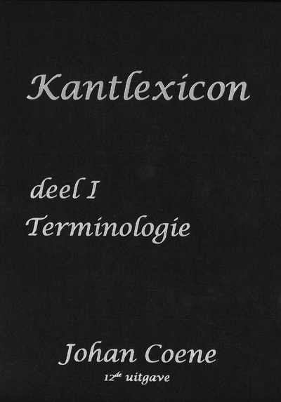 'Kantlexicon' (2 delen) - in 5 talen - hardcover - Johan Coene